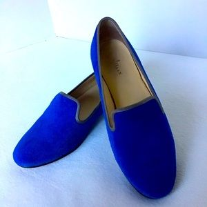 Cole Haan Nike Air Royal Blue Suede Loafers Size 6